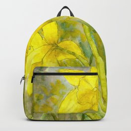 Rise and Shine, Watercolor Daffodils Painting Backpack