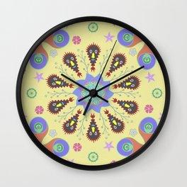 Monster Mandala Wall Clock