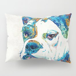 Colorful English Bulldog Art By Sharon Cummings Pillow Sham