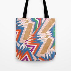 wonky chevron Tote Bag