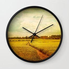 Castle Walk Wall Clock