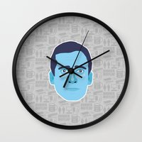 michael scott Wall Clocks featuring Michael Scott - The Office by Kuki