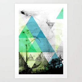 Abstract Geometry V3  Art Print