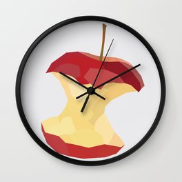 Geo Apple Core Wall Clock