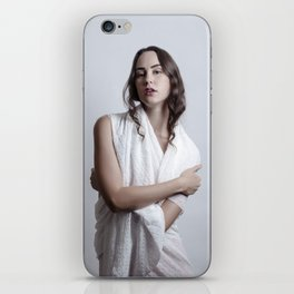 Wrapped in White iPhone Skin