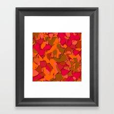 red camouflage Framed Art Print