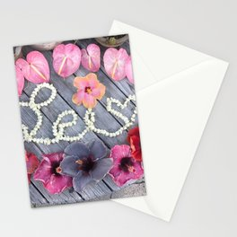 The lei maker Stationery Cards