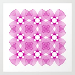 Ah Um Design #001-pink Art Print