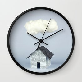 A cloud over the house Wall Clock