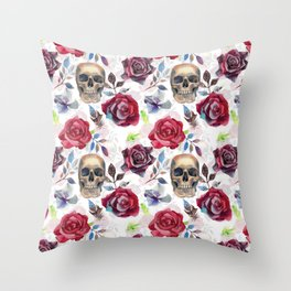 Bright night. White Throw Pillow