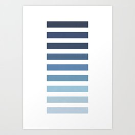 Sky and Water Blue Palette Art Print