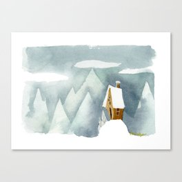 Winter in the Alpes Canvas Print