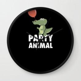 Party Animal Alligator Crocodile Animal Wall Clock
