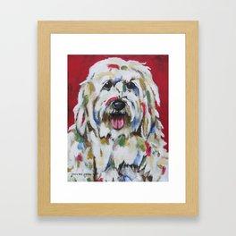 English Sheepdog Framed Art Print