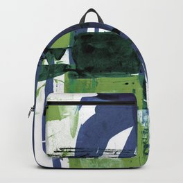 Teal Splendor No.1t by Kathy Morton Stanion Backpack