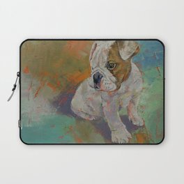 Bulldog Puppy Laptop Sleeve