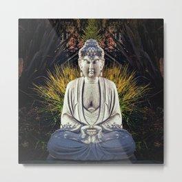 Bad Day Buddha Metal Print