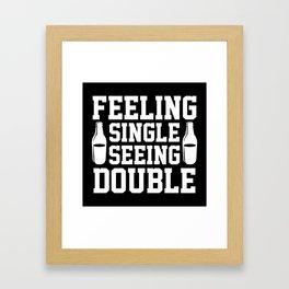 Feeling Single Seeing Double Framed Art Print
