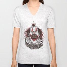 Killer Clown (Pen & Ink) Unisex V-Neck