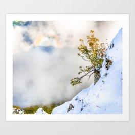 Halo in Caucasian ridge Art Print
