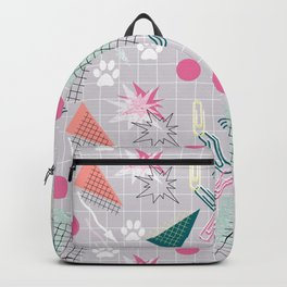 Memphis.Colorful retro pattern.2 Backpack