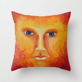Placid Fire Throw Pillow