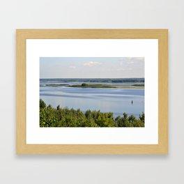 Landscape on the river # 3 Framed Art Print
