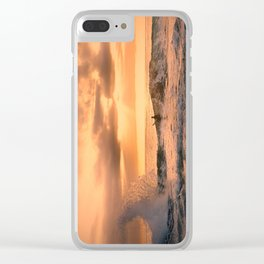 Autumn Wave Clear iPhone Case