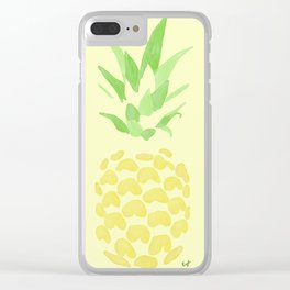 Pineapple watercolour (yellow) Clear iPhone Case