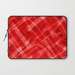 Pastel metal mesh with red intersecting diagonal lines and stripes. Laptop Sleeve