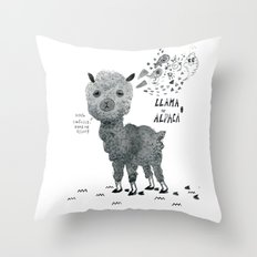 llama or alpaca Throw Pillow