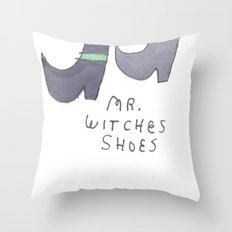 MR WITCHES SHOES. Throw Pillow