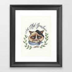 Monsieur Grumpy Framed Art Print