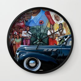 Pontiac in The Park Wall Clock