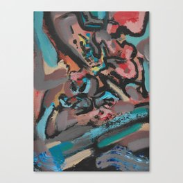 Different Viewpoints Modern Abstract Painting Canvas Print