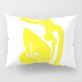 Henri Matisse, Nu Jaune II (Yellow Nude II) lithograph modernism portrait painting Pillow Sham
