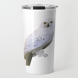 Geometric barn owl Travel Mug