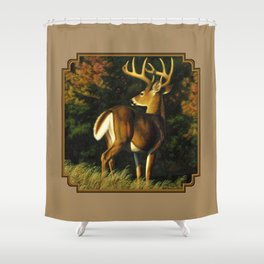Whitetail Deer Trophy Buck Shower Curtain