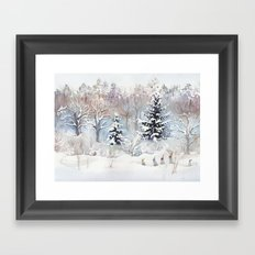 Tiny Elves Framed Art Print