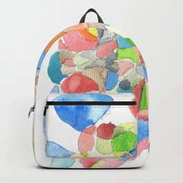 Life and Meaning 4 | Abstract Watercolors Backpack