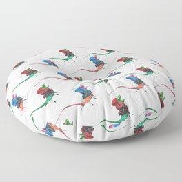 Frill-necked Lizard Floor Pillow