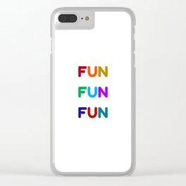 fun fun fun colorful design Clear iPhone Case