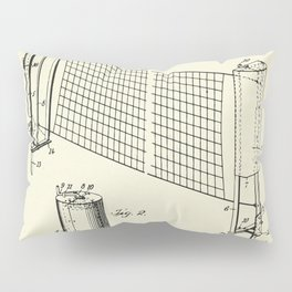 Combined case and post for lawn-tennis nets-1908 Pillow Sham