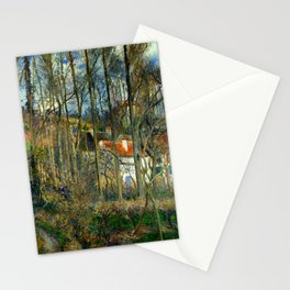 """Camille Pissarro """"The Côte des Bœufs at L'Hermitage"""" Stationery Cards"""