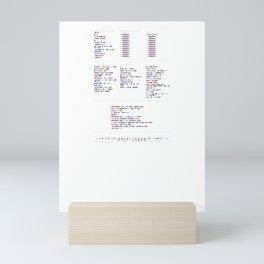 Aphex Twin Discography - Music in Colour Code Mini Art Print