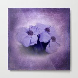 flowers on purple - dogwood 1 Metal Print