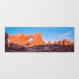 The Trail to North Window Panorama Canvas Print