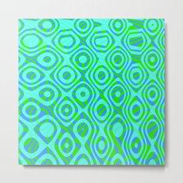Mixed Polyps Green - Coral Reef Series 037 Metal Print