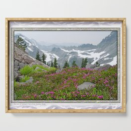 THE LAST OF SUMMER'S SNOW FROM KULSHAN RIDGE Serving Tray
