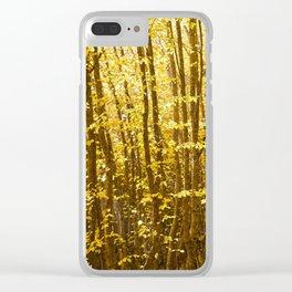 Autumn Splendor Clear iPhone Case